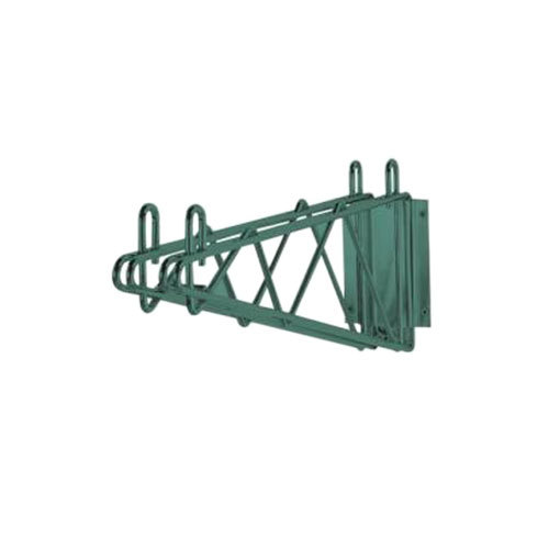 "Advance Tabco GDB-14 14"" Deep Double Wall Mounting Bracket for Adjoining Green Epoxy Coated Wire Shelves"