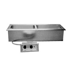 Delfield N8768ND Narrow Three Pan Drop In Hot Food Well with Drain