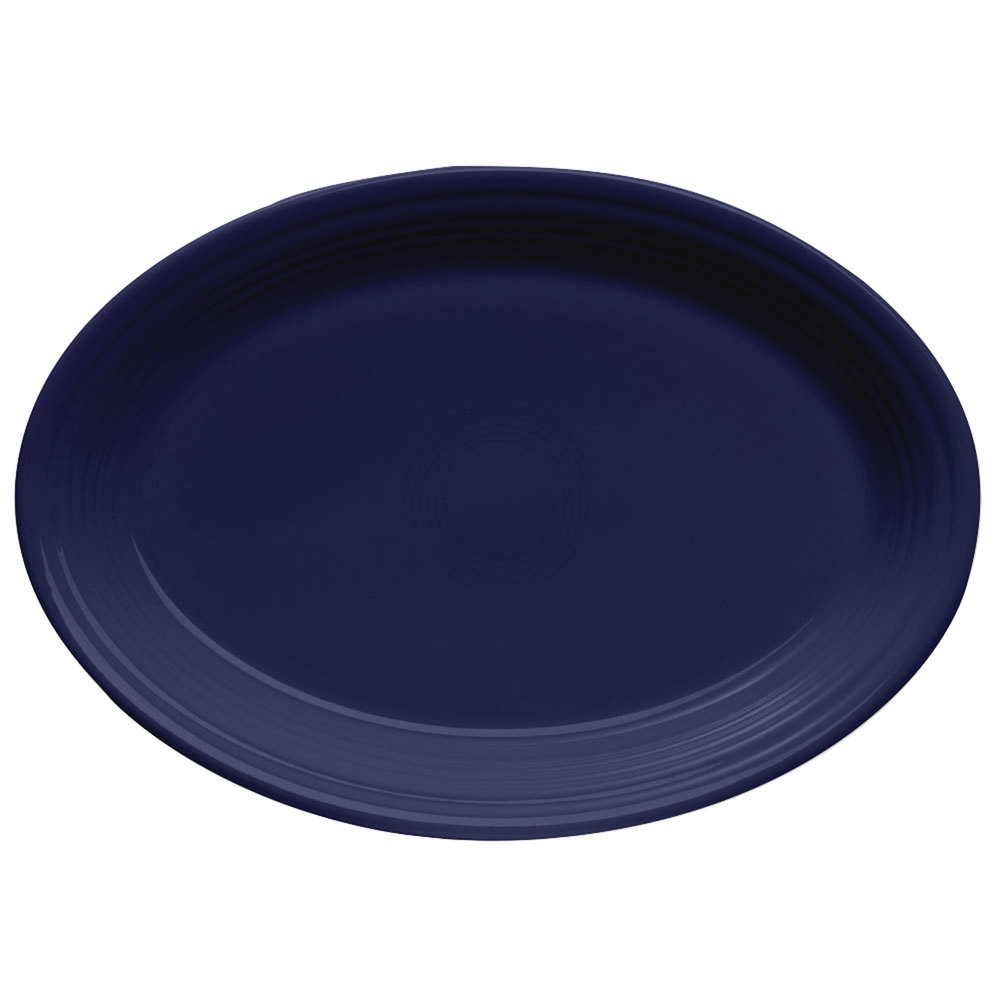 "Homer Laughlin 456105 Fiesta Cobalt Blue 9 5/8"" Platter - 12/Case"