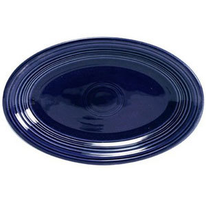 Homer Laughlin 456105 Fiesta Cobalt Blue 9 5/8 inch Platter - 12 / Case