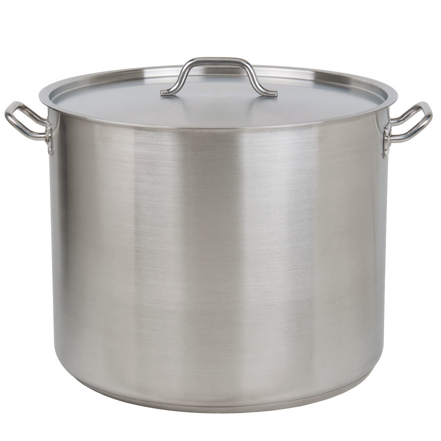 60 Qt. Heavy-Duty Stainless Steel Stockpot with Cover