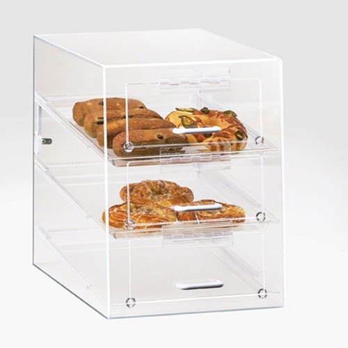 Cal Mil 124 Three Tier Classic Pastry Display Case 13 1/2 inch x 22 inch x 7 inch