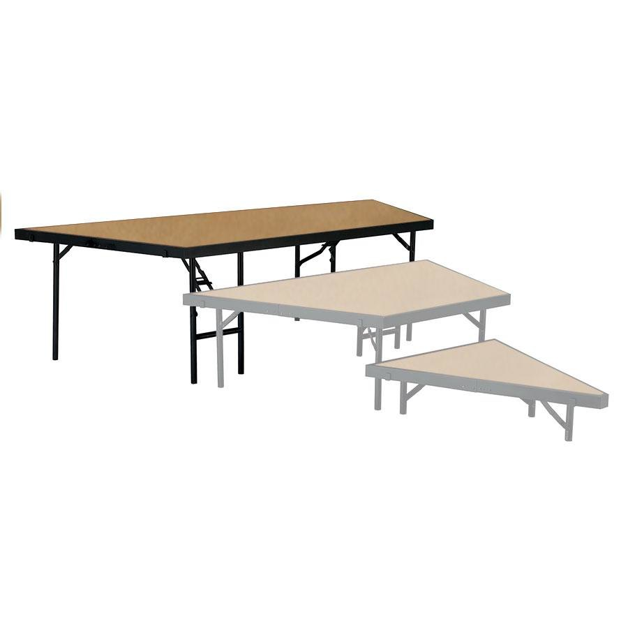 "National Public Seating SP3624HB Portable Stage Pie Unit with Hardboard Surface - 36"" x 24"""