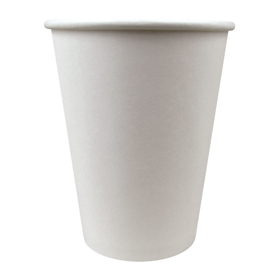 Choice 12 oz. Paper Hot Cup White 50 / Pack