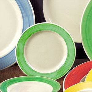 CAC R-3 GREEN Rainbow Pasta / Soup Bowl 12 oz. - Green - 24/Case