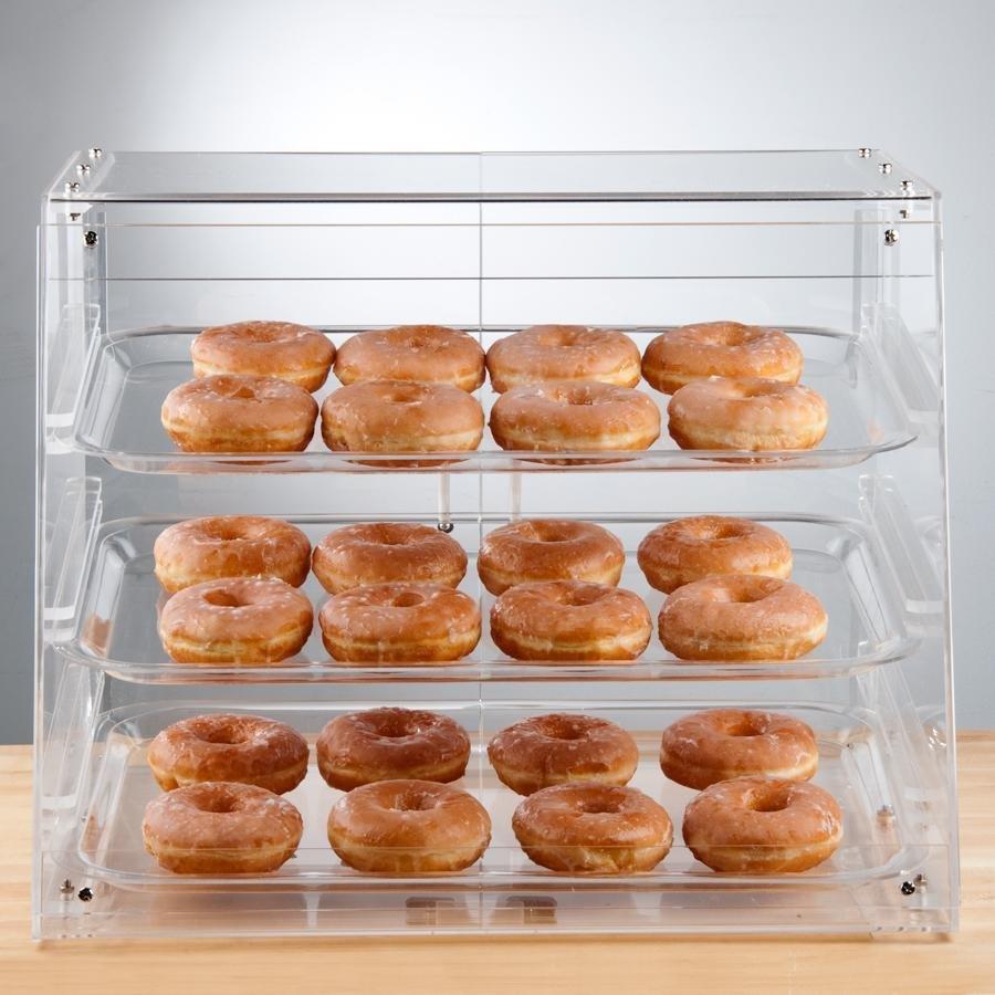 Countertop Bakery Display Cases : Bakery Display Case 3 Tray Bakery Display Case w/ Rear Doors