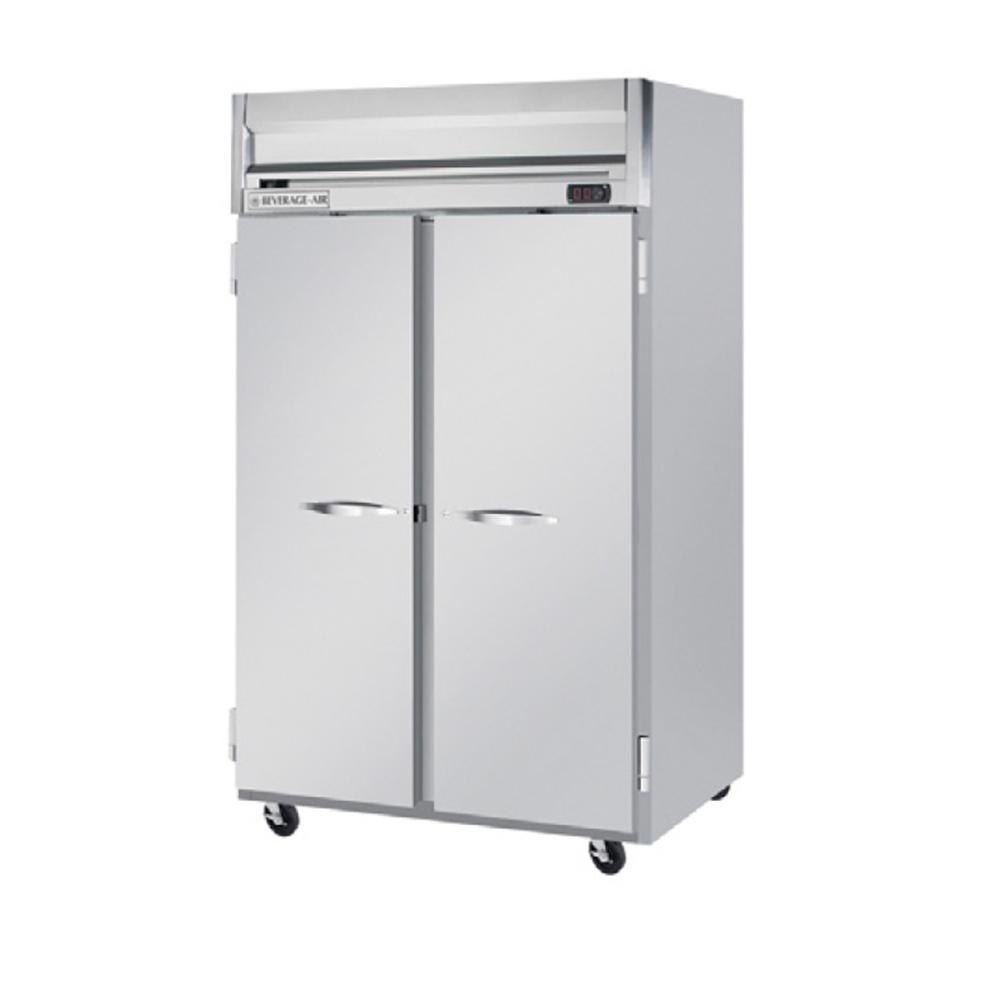 Beverage Air HFP2-1S 2 Section Solid Door Reach-In Freezer - 49 cu. ft., Stainless Steel Exterior
