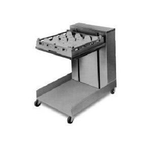 "APW Wyott Lowerator CTR-1014 Mobile Open Cantilever Tray Dispenser for 10"" x 14"" Trays"