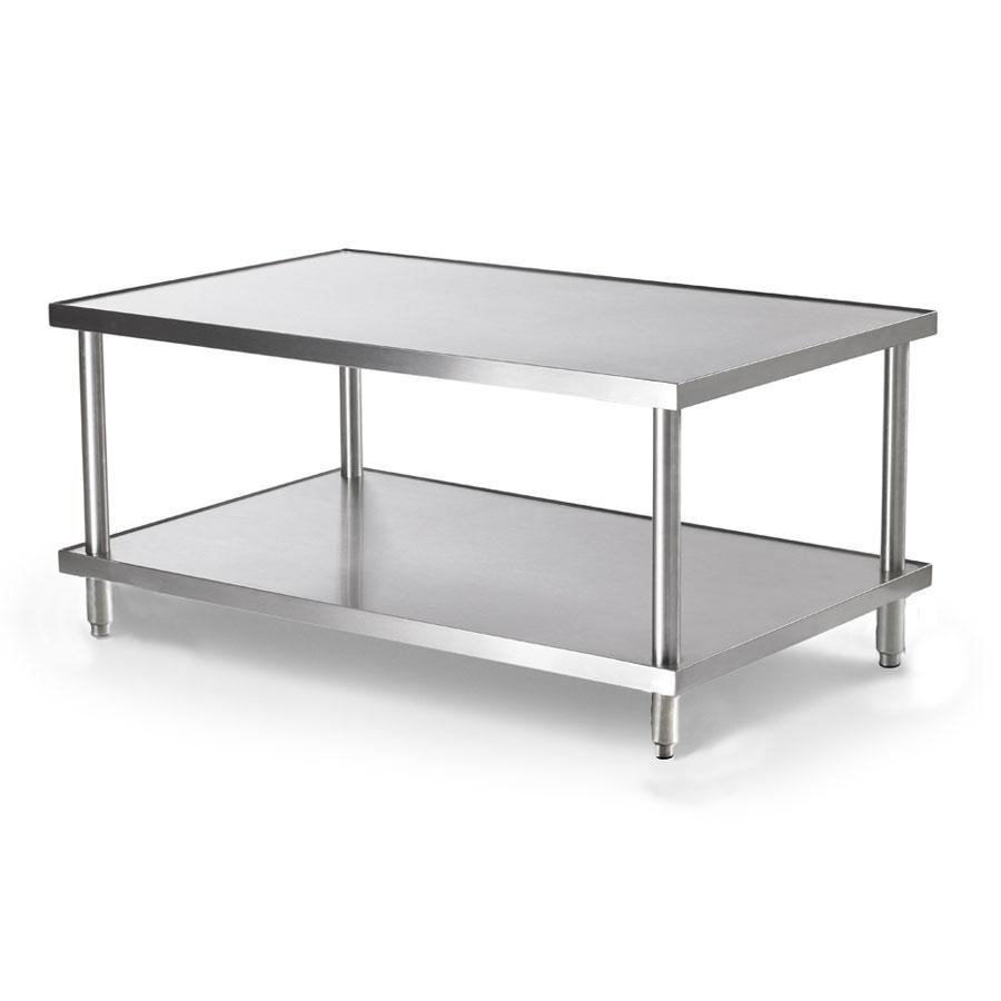 "Vollrath 4087060 60"" x 30"" Stainless Steel Heavy Duty Stationary Equipment Stand with Undershelf"
