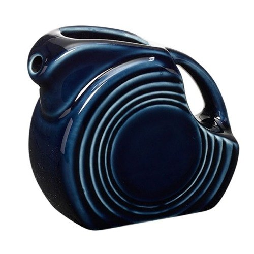 Homer Laughlin 475105 Fiesta Cobalt Blue 4.75 oz. Mini Disc Pitcher - 4 / Case