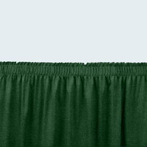 "National Public Seating SS16 Green Shirred Stage Skirt for 16"" Stage"