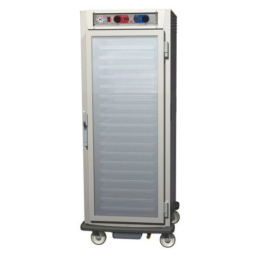 Metro C589-NFS-UPFC C5 8 Series Reach-In Pass-Thru Heated Holding Cabinet - Clear / Solid Doors