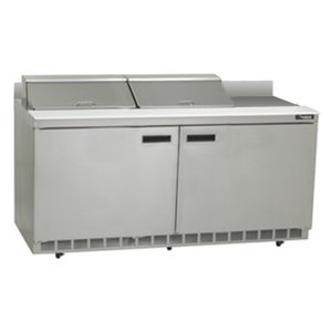 "Delfield ST4464N-12 64"" Salad Prep Refrigerator with Two Doors and Backsplash"