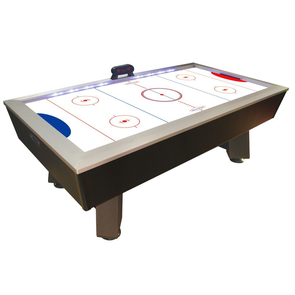 Escalade Sports HT600 7 1/2u0027 Full Length Interactive Lighted Rail Air  Hockey Table
