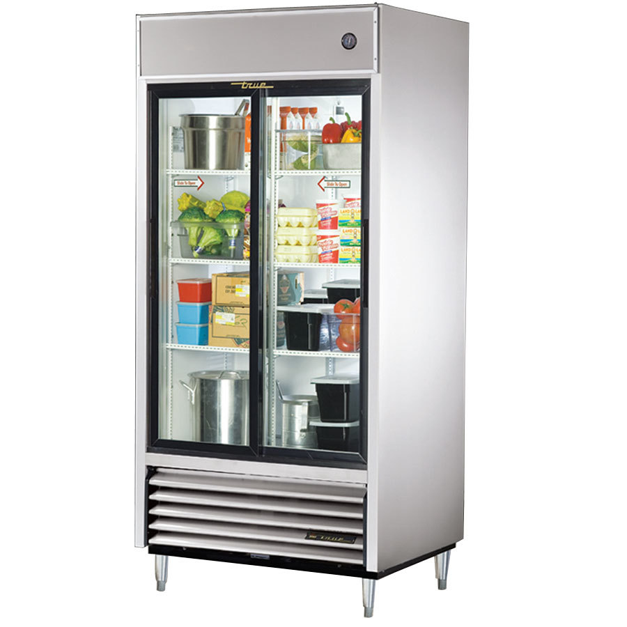 True Tsd 33g 2 Sliding Glass Door Reach In Refrigerator 33