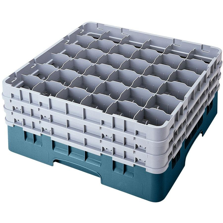 "Cambro 36S534414 Teal Camrack 36 Compartment 6 1/8"" Glass Rack"