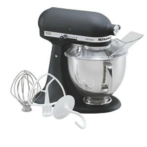 KitchenAid KSM150PSBK Imperial Black Artisan Series 5 Qt. Stand Mixer