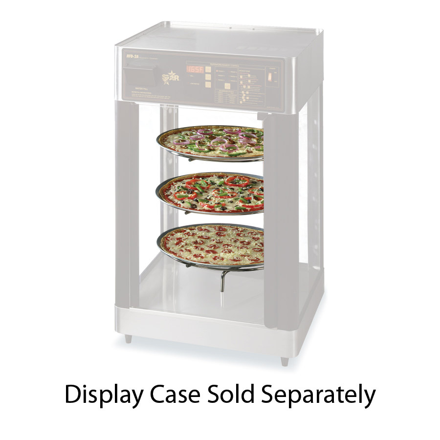 Star 3CR-2A Complete 3 Tier 16 inch Circle Pizza Rack for HFD2 Humidified Display Cases