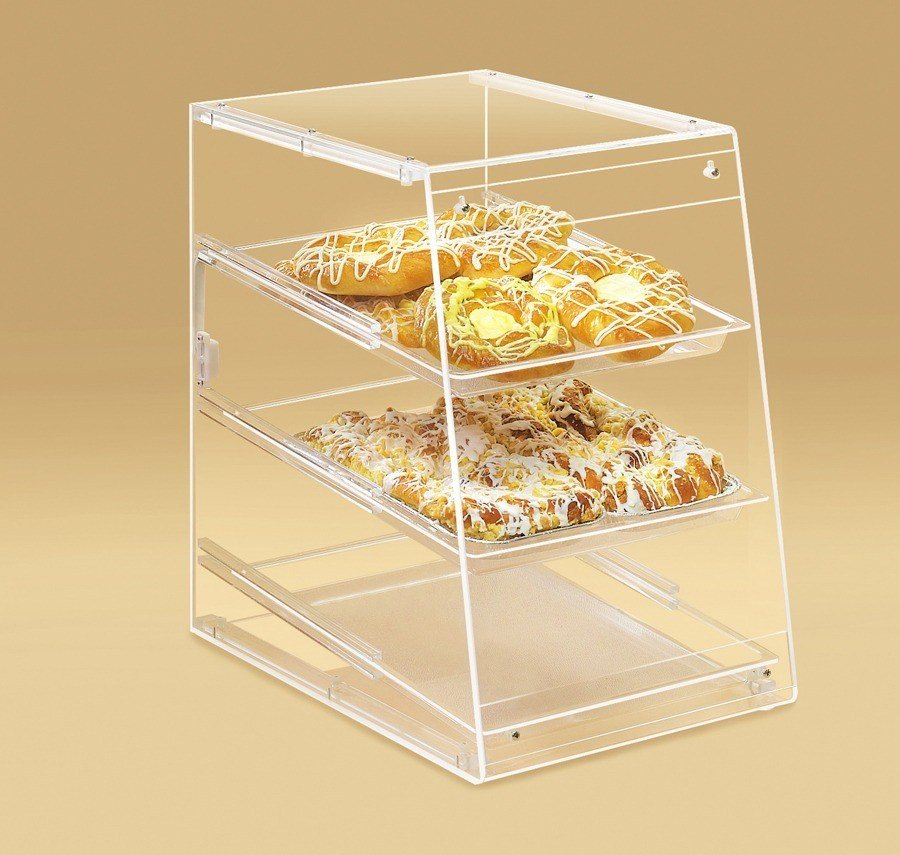 Cal Mil 960 Slant Front U-Build Bakery Display 11 1/2 inch x 17 inch x 17 inch