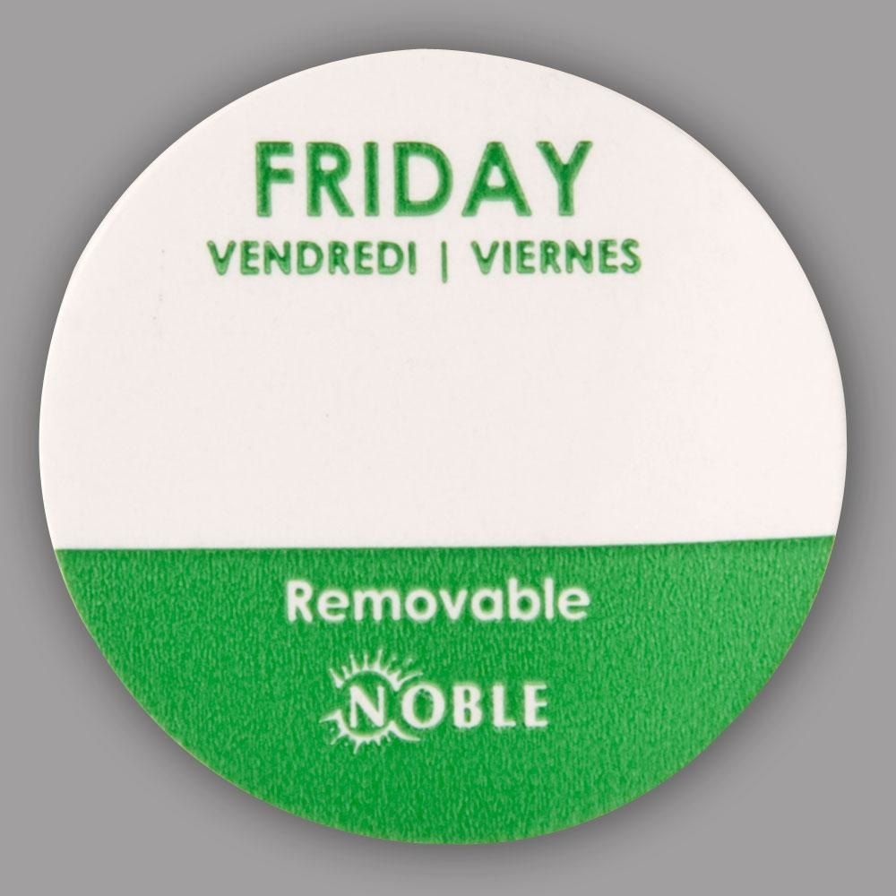 Noble Friday Removable Day of the Week Dot Label 1 inch – 1000 / Roll