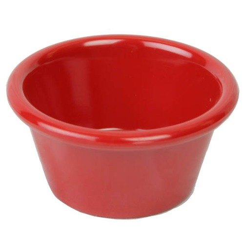 Red 4 oz. Smooth Melamine Ramekin - 48 / Case