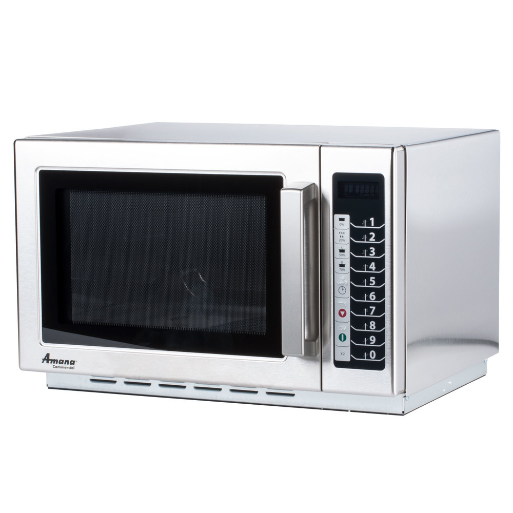 Amana RCS10TS Stackable Commercial Microwave with Push Button Controls - 120V