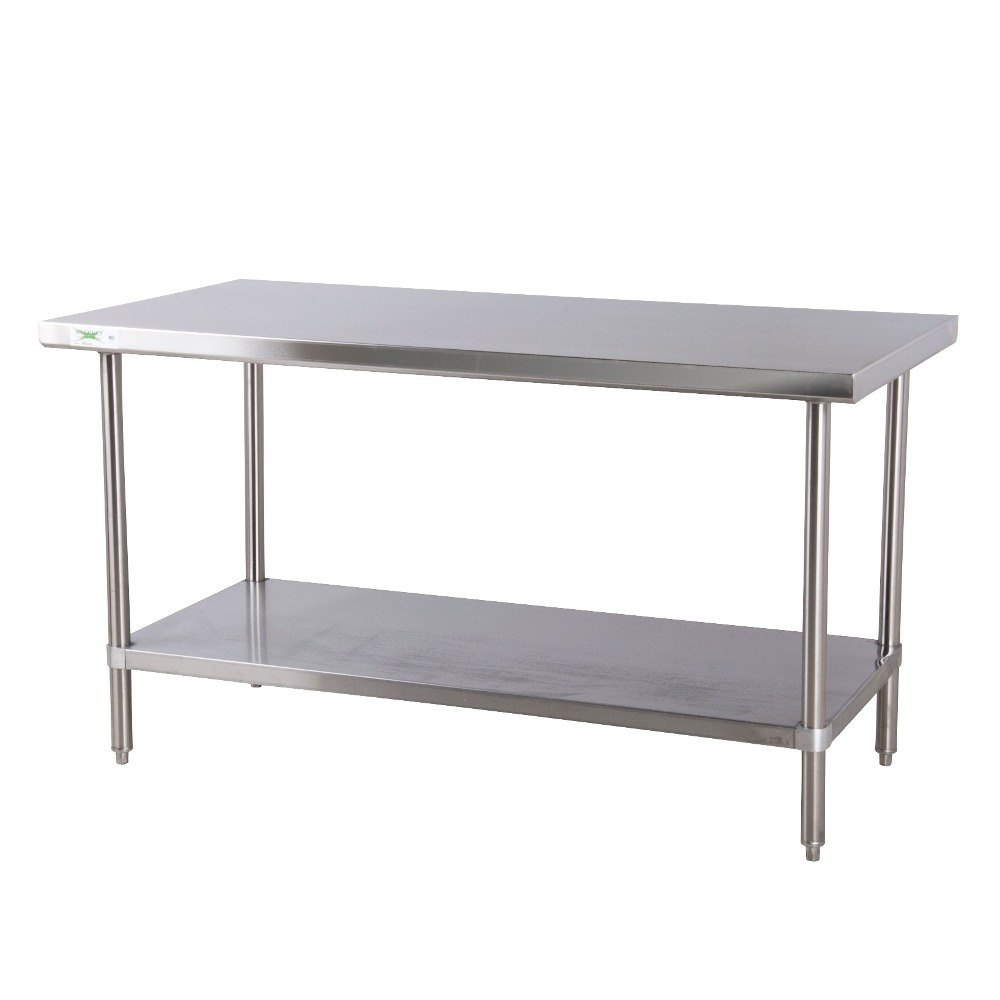 Regency 16 gauge all stainless steel commercial work table 30 x 72 with undershelf - Stainless kitchen tables ...