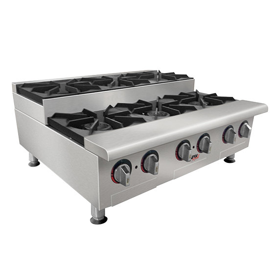 Countertop Stove Images : APW Wyott GHPS-2i Step-Up Two Burner Countertop Range
