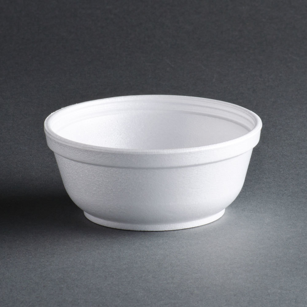 Dart 8B20 8 oz. Insulated White Customizable Foam Bowl - 1000 / Case at Sears.com