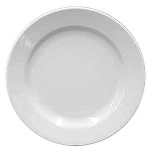 Homer Laughlin Rolled Edge 9 5/8 inch Creamy White / Off White China Plate 24 / Case