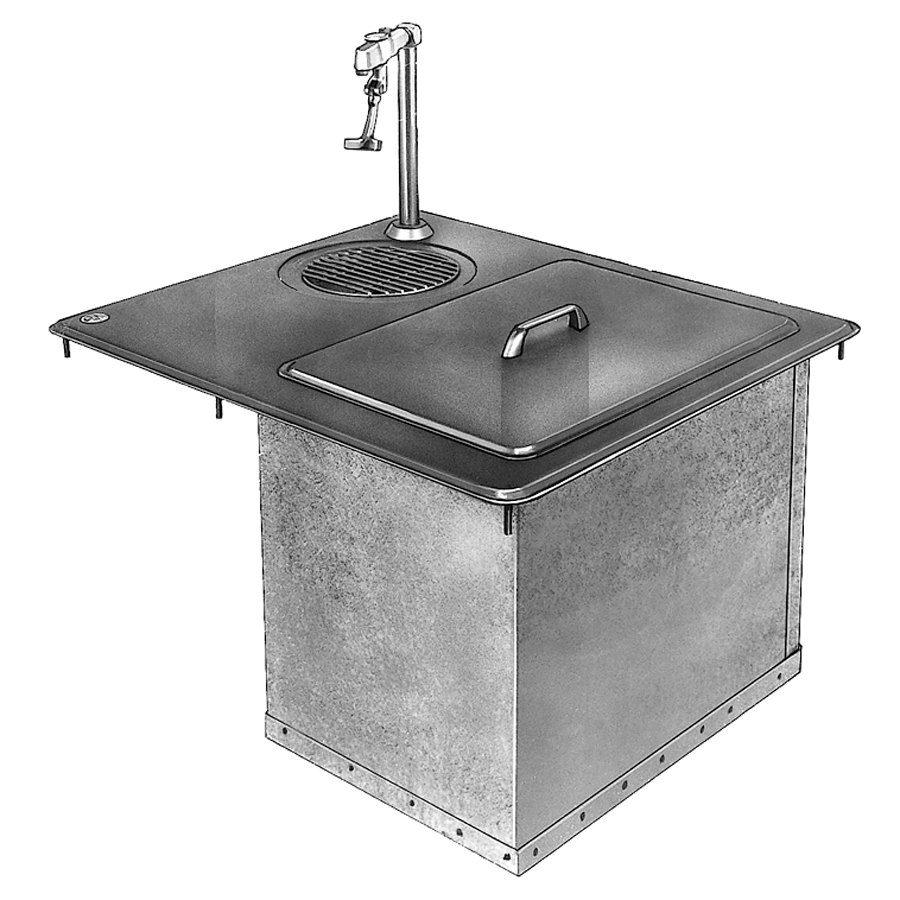 Delfield 204P Drop In Ice and Water Station - 45 lb. Ice Capacity