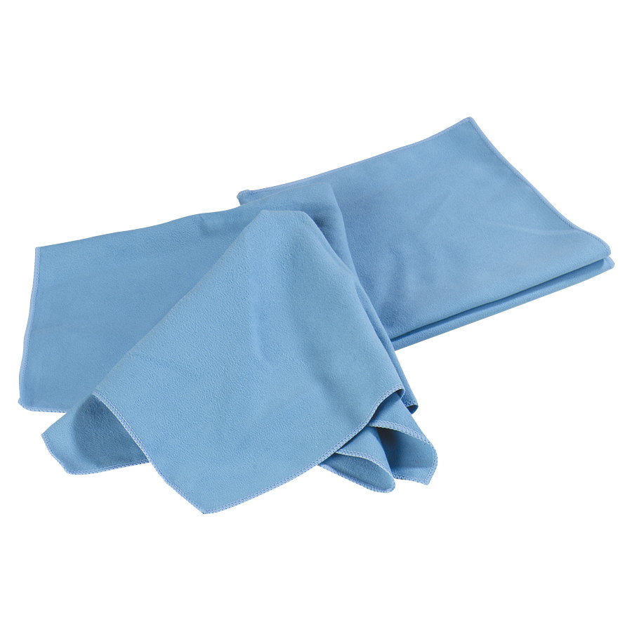 Carlisle 36333 16 inch x 16 inch Blue Microfiber Fine Polishing Cloth