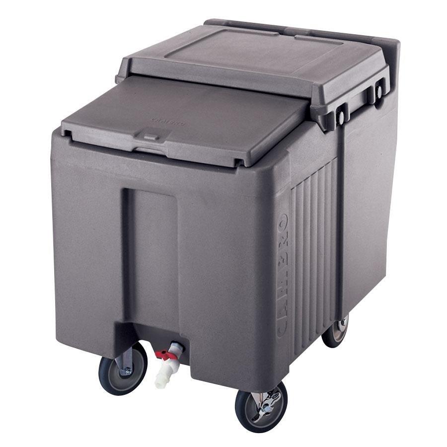Portable Feed Storage Bins : Cambro ics l granite gray sliding lid portable ice