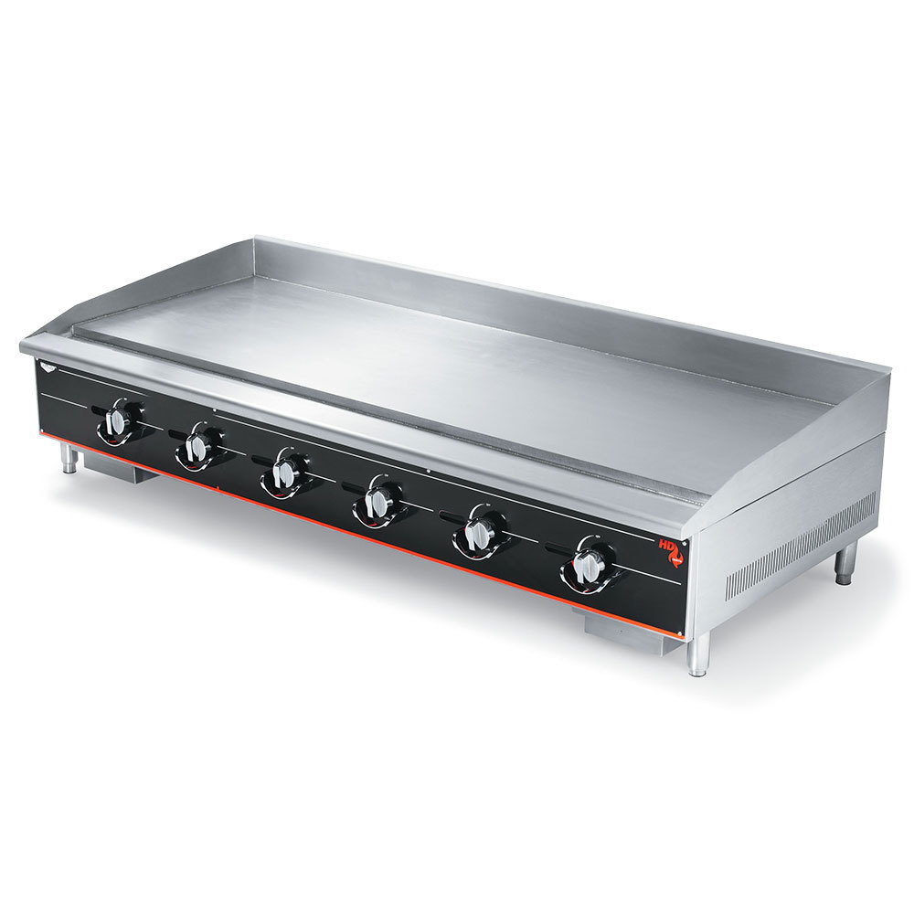 "Vollrath 972GGM Cayenne 72"" Heavy Duty Countertop Griddle with Manual Controls - 180,000 BTU"