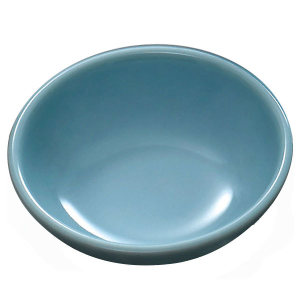 "Blue Jade 12 oz. Round Melamine Bowl, 6"" - 12/Case"