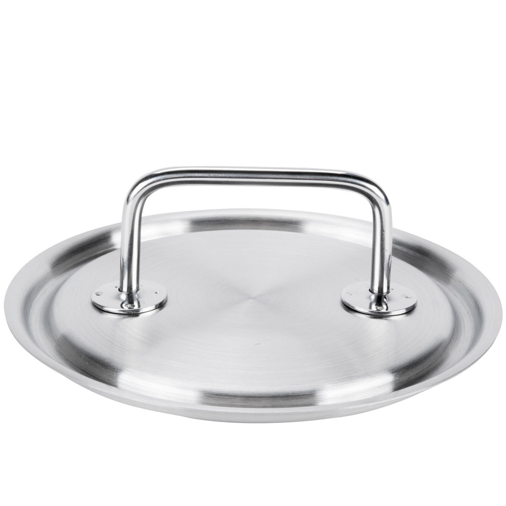 "Vollrath 47770 Intrigue 7 1/8"" Stainless Steel Cover with Loop Handle"