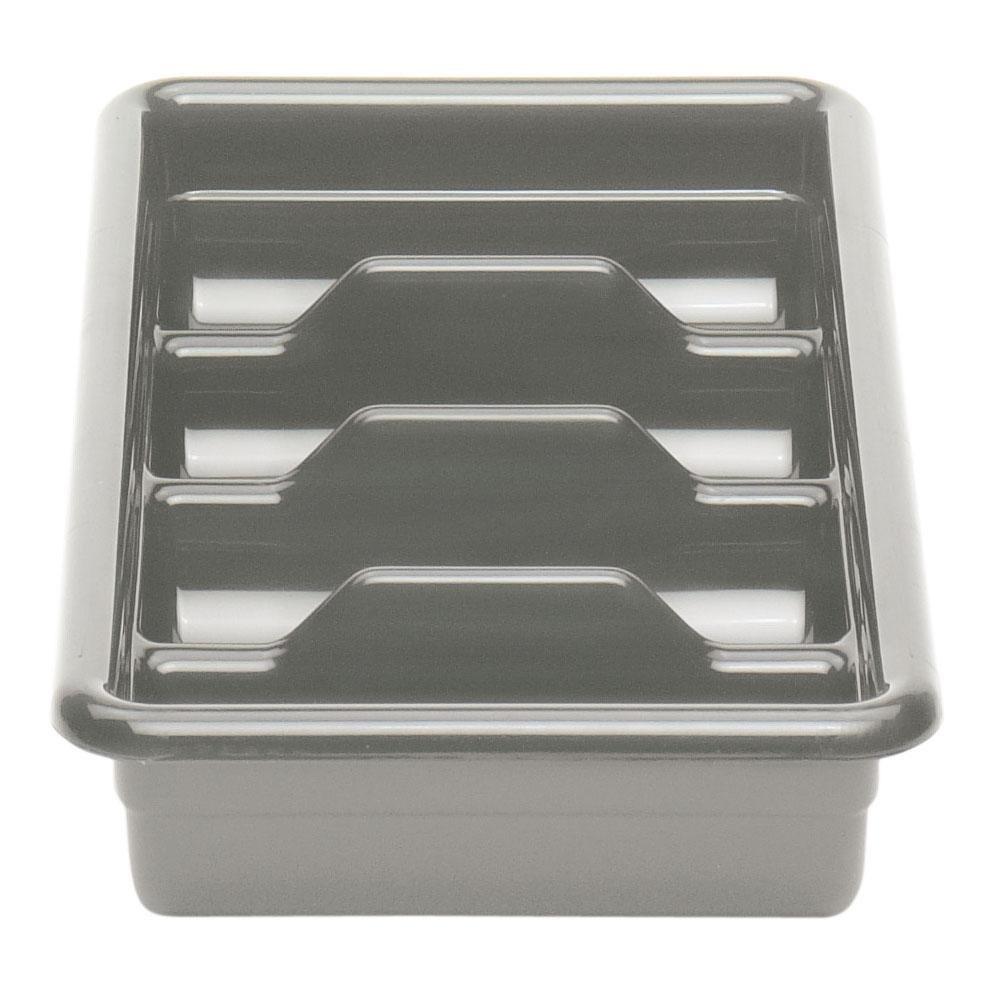 """Light Gray Cambro 1120CBP180 4 Compartment Cutlery Box 11"""" x 20"""""""
