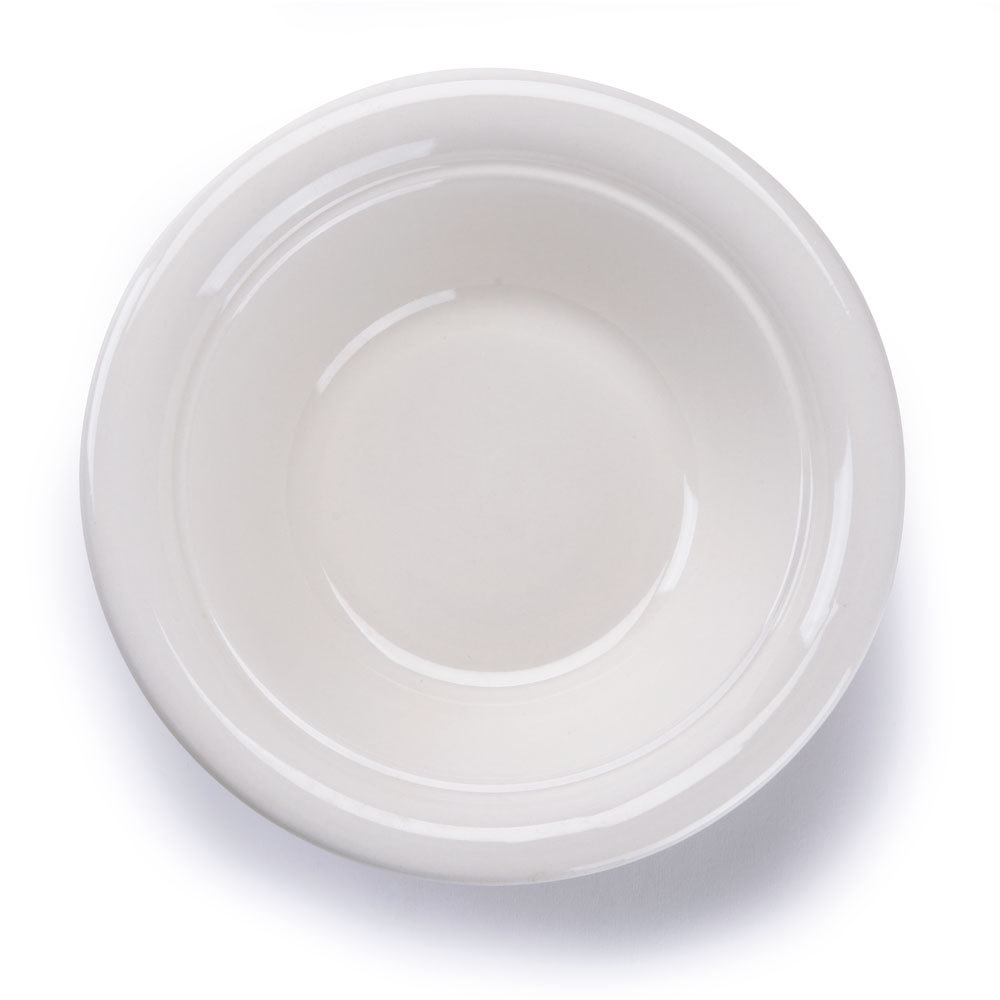 American White (Ivory / Eggshell) 40 oz. China Serving Bowl - 12 / Case