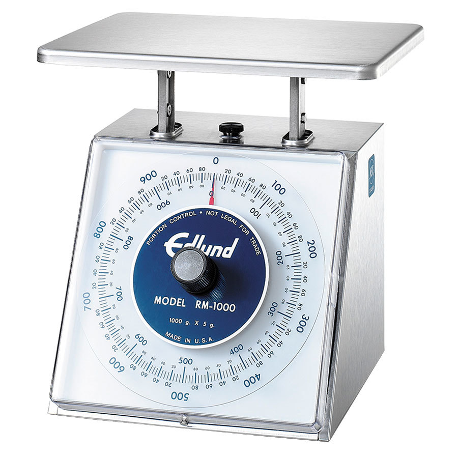 Edlund RM-5000 Four Star Series 5000 g. Metric Mechanical Portion Scale - 7 3/4 inch x 7 1/2 inch