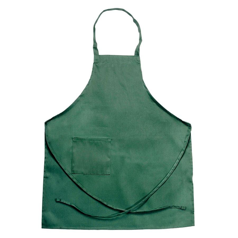 Chef Revival 601BAC-HG Full-Length Hunter Green Bib Apron – 30 inch x 34 inch