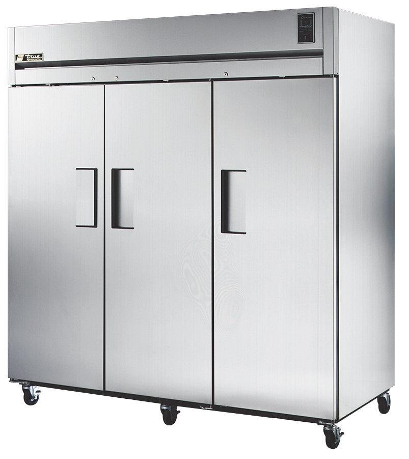True STG3R-3S Specification Series Three Section Solid Door Reach In Refrigerator - 85 Cu. Ft.