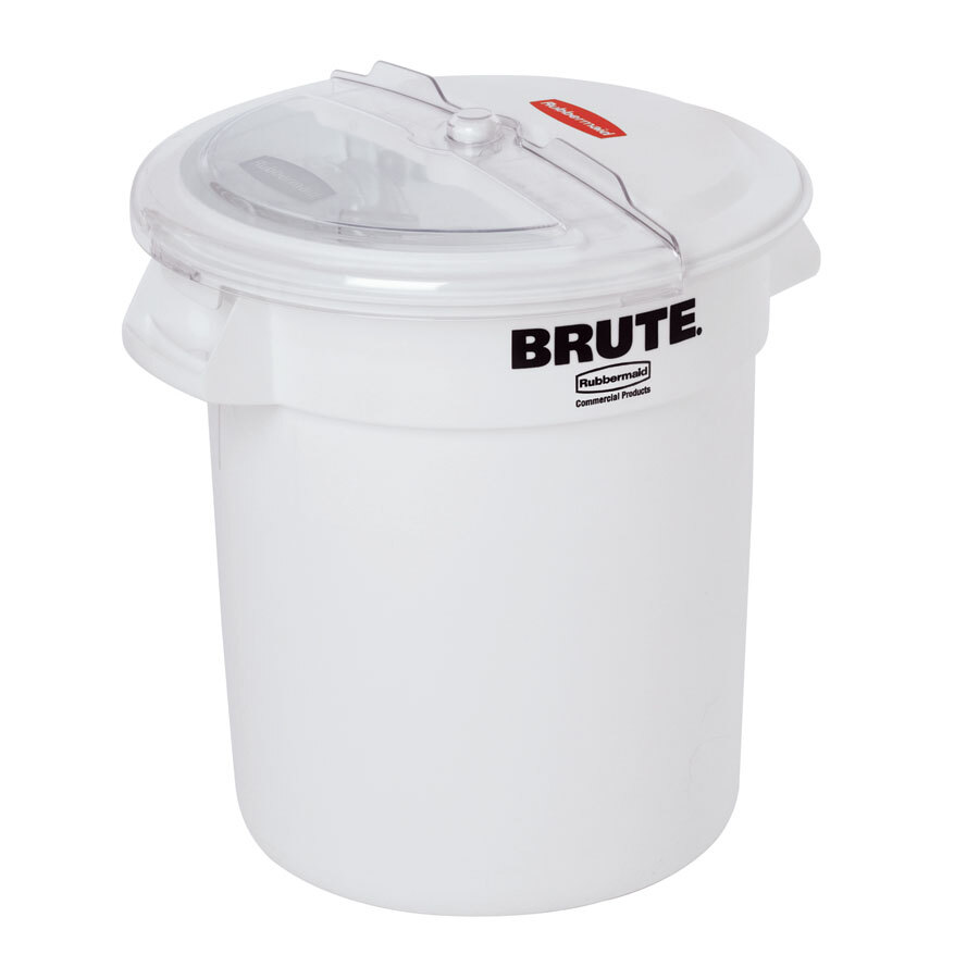 Rubbermaid Brute 9G73 10 Gallon Ingredient Bin with ProSave Lid and Scoop (FG9G7300WHT)