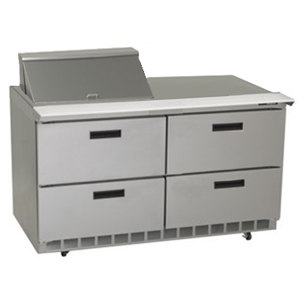 "Delfield UCD4460N-8 60"" 4 Drawer Reduced Height Refrigerated Sandwich Prep Table"