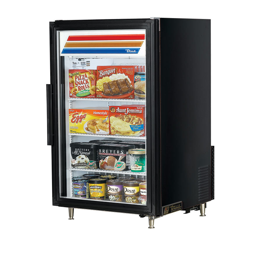 GDM-7F Black Countertop Glass Door Merchandiser Freezer - 7 Cu. Ft