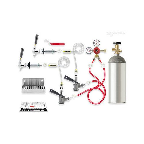 Micro Matic RCK-S2 Dual Keg Kegerator Door Mount Conversion Kit with Gas Cylinder