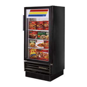 True GDM-10F Black Glass Door Merchandiser Freezer - 10 Cu. Ft.