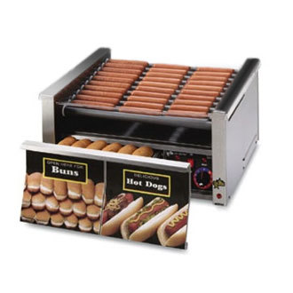 Star 120 Volts Star Grill Max 75CBDE 75 Hot Dog Roller Grill with Bun Drawer, Electronic Controls and Chrome Plated Rollers at Sears.com