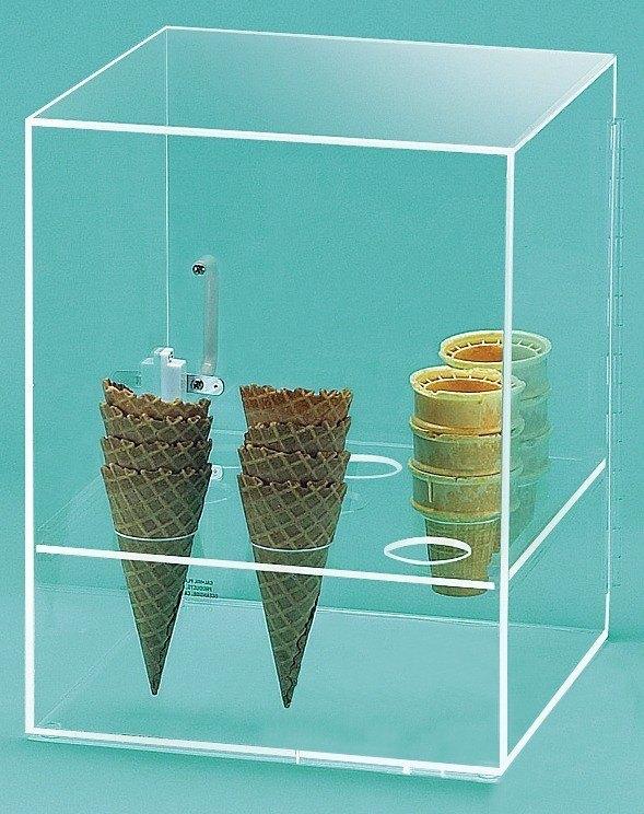 Cal Mil 386 Nine Cone Ice Cream Cone Holder Cabinet