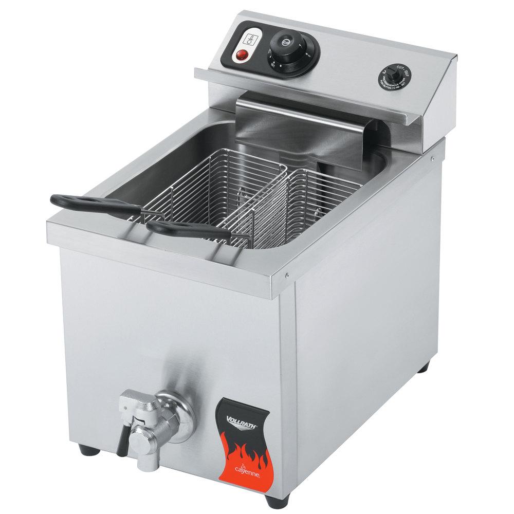 Countertop Deep Fryer : Vollrath 40709 15 lb. Commercial Countertop Deep Fryer - 208-240V