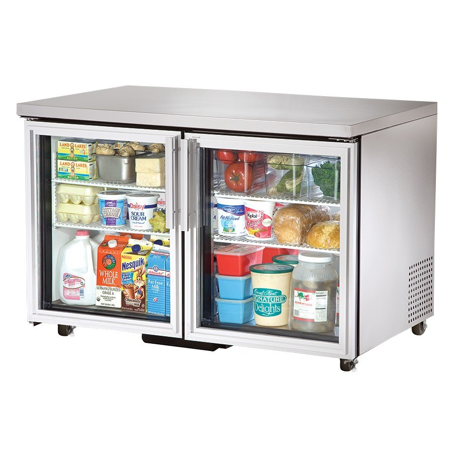 True TUC-48G-ADA 48 inch Glass Door Deep ADA Compliant Undercounter Refrigerator